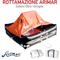 Rottamazione Zattera Arimar oltre 12 Miglia - 8 p. - Valigia