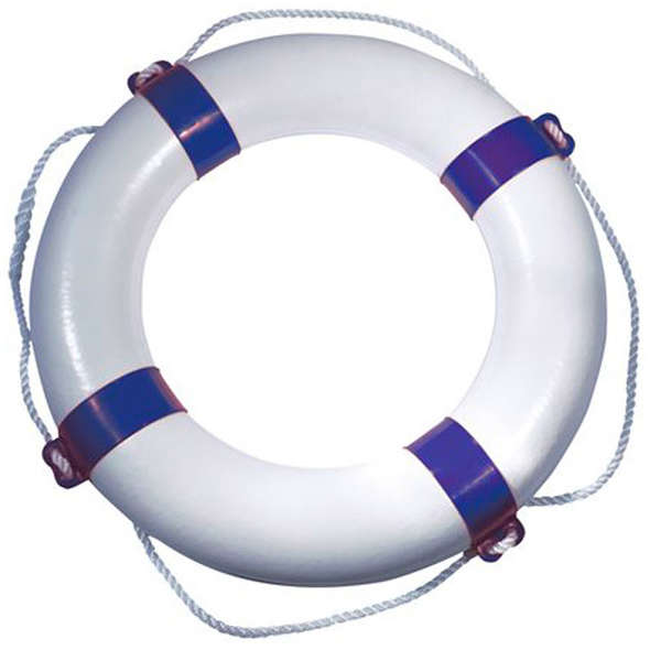 Salvagente anulare Orca Bianco - Blu