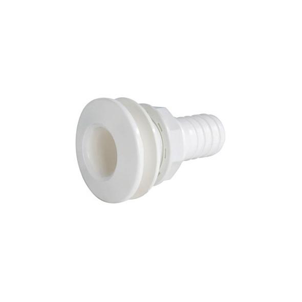 """Scarico nylon bianco con portagomma 1"""" mm. 25"""