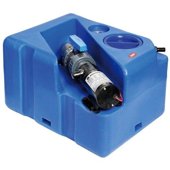 Serbatoio acque nere con maceratore - Orizzontale lt. 40 - 12 V.