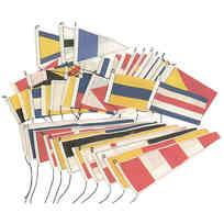 Set 40 Bandiere Gran Pavese 14 x 20 cm