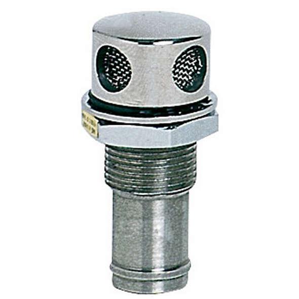 Sfiato carburante Inox dritto 16 mm
