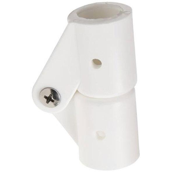 Snodo in nylon bianco per tubo 20 mm.