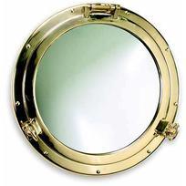 Specchio Oblò apribile in ottone lucido