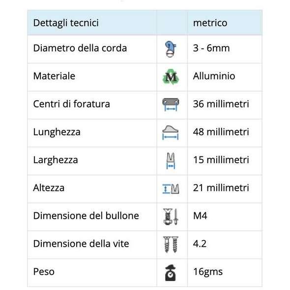 Strozzascotte alluminio Viadana 26.05