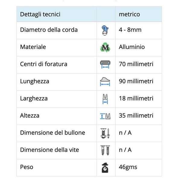 Strozzascotte alluminio Viadana 26.10