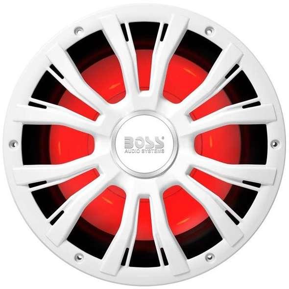Subwoofer con Illuminazione LED Boss Marine MRGB10 - Bianco