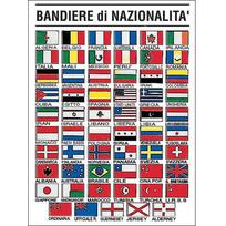 """Tabella adesiva """"Bandiere nazionalità"""" 16 x 24 cm"""