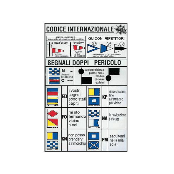 """Tabella adesiva """"Codice internazionale 3"""" 16 x 24 cm"""