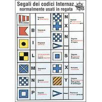 """Tabella adesiva """"Codice internazionale Regata"""" 16 x 24 cm"""