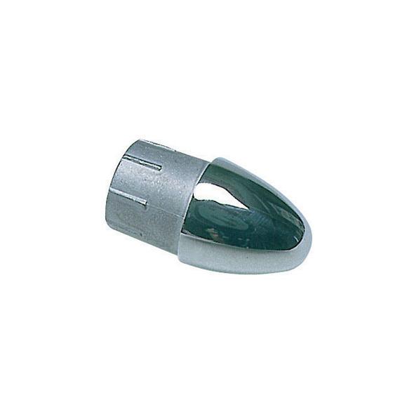 Tappo terminale inox per tubo 22 mm.
