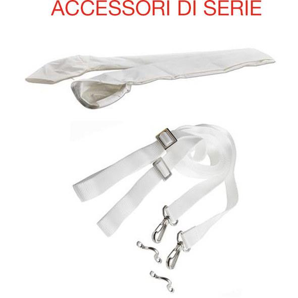 Tendalino 3 archi Chic Mod. Alto Bianco 170 cm.