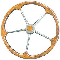 Timone cerchio esterno teak D. 60 cm.