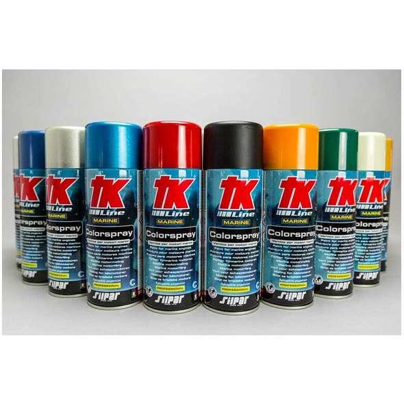 TK vernice spray per fuoribordo JOHNSON GT GREY MET