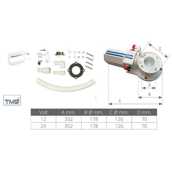 TMC Kit trasformazione WC da manuale a elettrico 12V