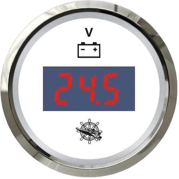 Voltmetro Digitale Bianco + Cromo 8/32 V.