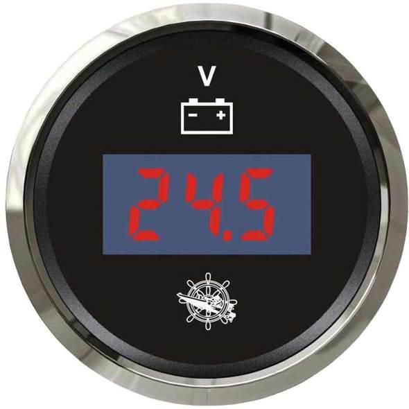 Voltmetro Digitale Nero + Cromo 8/32 V.