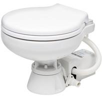 WC elettrico barca 12 Volt sedile laccato Bianco