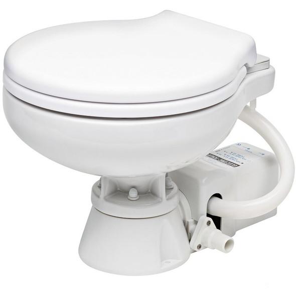 WC elettrico barca 12 Volt sedile plastica Bianca