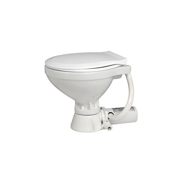 WC Elettrico Mediterraneo - Tazza piccola 12 V.  - Tavoletta plastica bianca